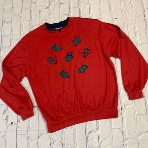 Vintage Scottie Dog Plaid Crewneck Sweatshirt Med